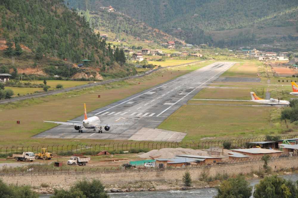 pearl one news Paro Airport Bhutan